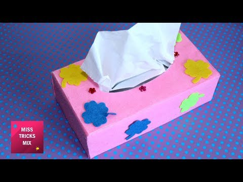 Felt Tissue Box - DIY: How to make felt tissue box / Felt Crafts - Kids Crafts