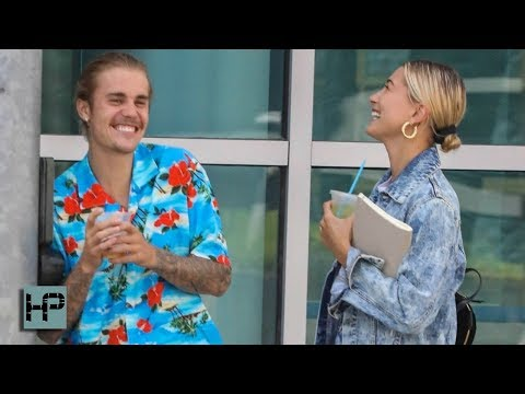 Justin Bieber and Hailey Baldwin - Loved Up Stroll Through Beverly Hills After Church
