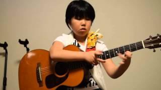 Beat it  Michael Jackson Solo guitar 8years ビートイット ソロギター 8才 みこと フットタンバリン(練習中)