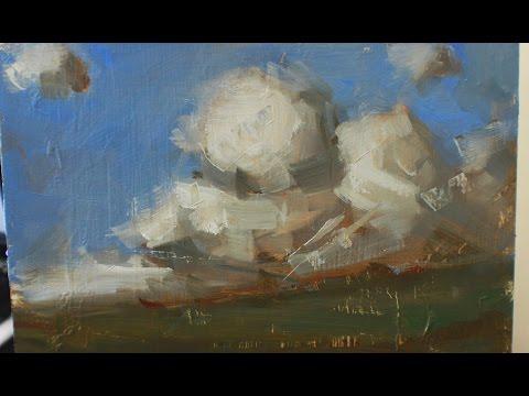 Landscape From Imagination (Oil on Panel)
