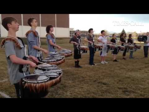 #Longmont High School Drumline is practicing for their last competition before state Saturday on the
