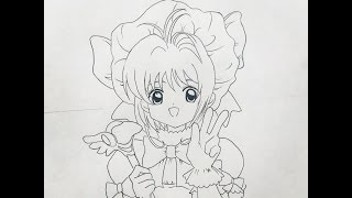 How to draw Card Captor Sakura