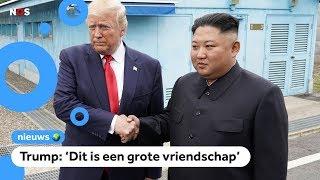 Trump ontmoet Kim Jong-un in Noord-Korea
