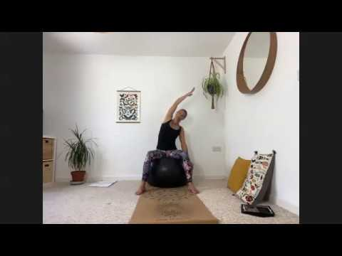 Pregnancy Yoga with birthing ball