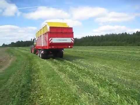 видео: Роторный прицеп-подборщик pÖttinger, модель jumbo 8010l.