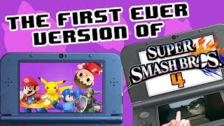 The first version of Smash 4! - SSB4 3DS Demo