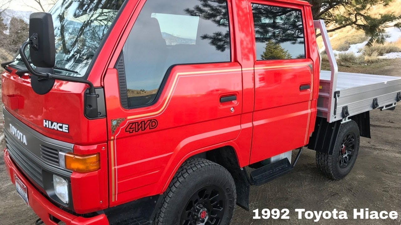 1992 toyota hiace 4wd diesel double cab doka with flatbed youtube. Black Bedroom Furniture Sets. Home Design Ideas