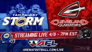 Video AFL: Tampa Bay Storm @ Cleveland Gladiators LIVE download MP3, 3GP, MP4, WEBM, AVI, FLV Desember 2017
