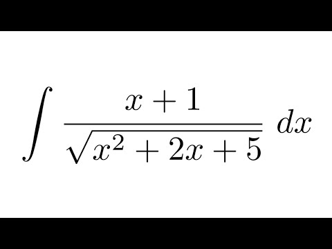 Integral of (x+1)/sqrt(x^2+2x+5) (substitution) - YouTube