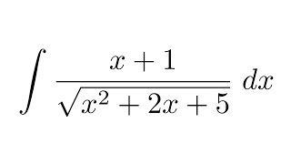 Integral of (x+1)/sqrt(x^2+2x+5) (substitution)