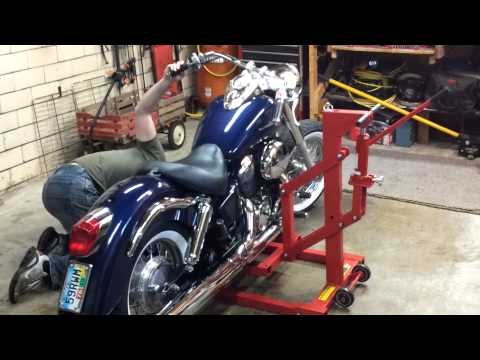 Harbor Freight High Position Motorcycle Lift Demonstration Review - 99887