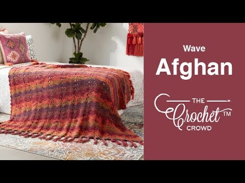 How to Crochet A Wave Afghan: Boho Ocean Waves