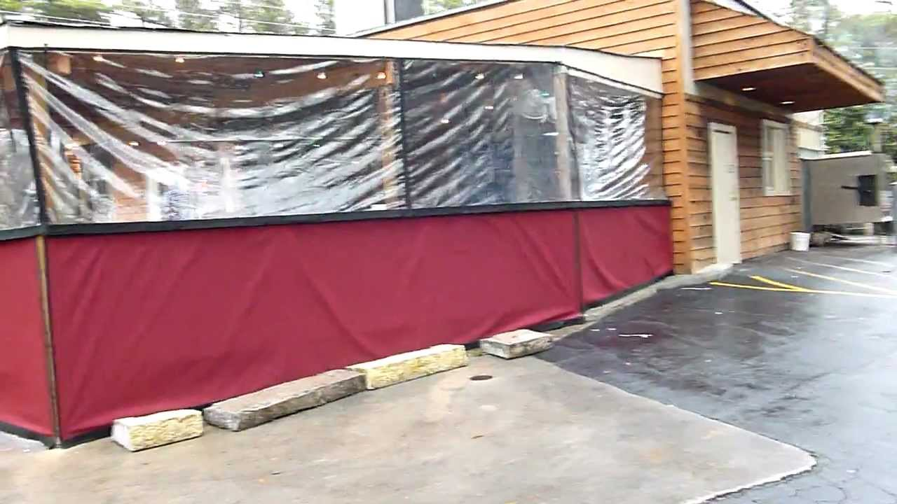 clear plastic patels for restaurant patio