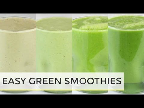 4 Healthy Green Smoothie Recipes | Healthy Breakfast Ideas