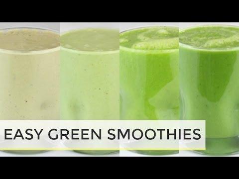 green-smoothies-4-ways|-easy-healthy-breakfast-ideas