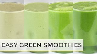 4 healthy green smoothie recipes   healthy breakfast ideas