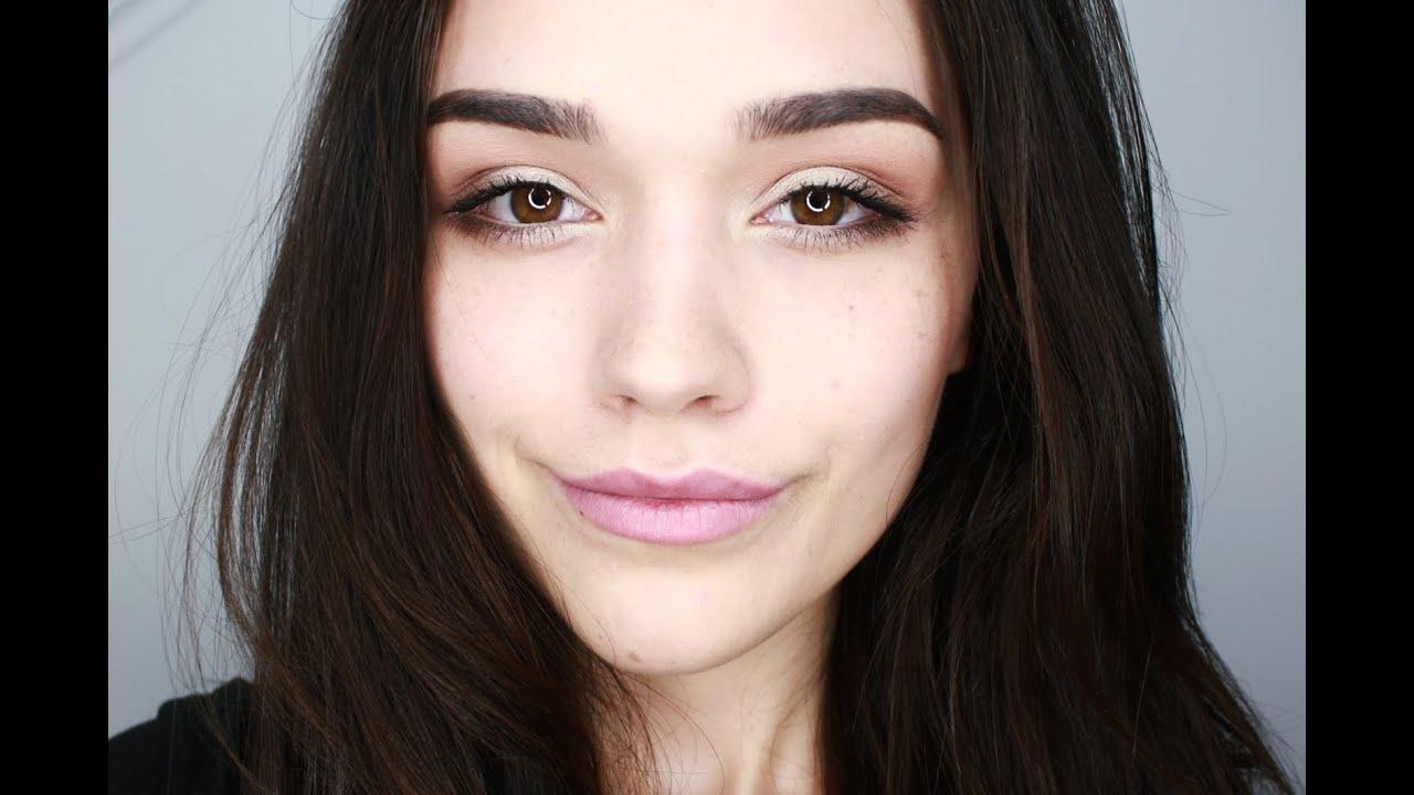 Beige Green Subtle Daytime Eye Makeup Youtube