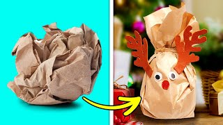 DIY Gift Wrapping Hacks & Low-Cost Ideas. Wrap & Recycle Old Stuff