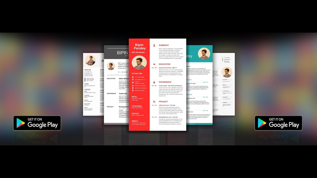 Resume Builder Android App Youtube