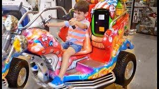 Riding on the Big Motorbike Fun For Kids