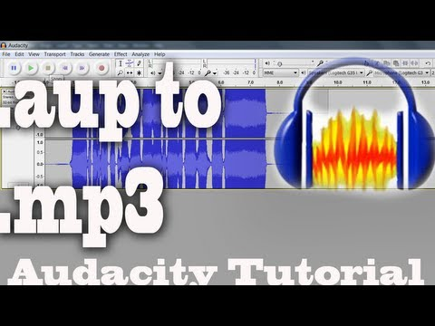 .aup to .mp3 Tutorial (How to convert .aup files)