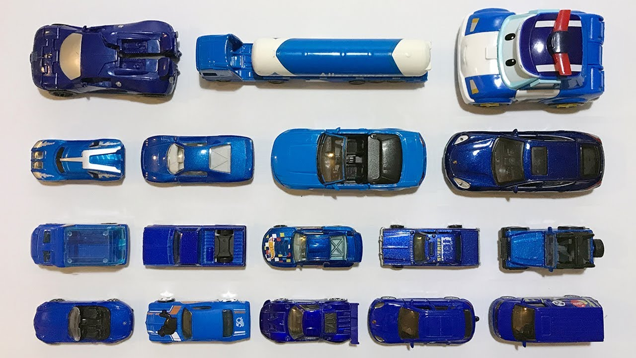 Learning The Color Blue And Car Names With Mini Cars
