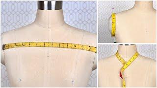 How to Take B๐dy Measurement | Taking Women Measurement