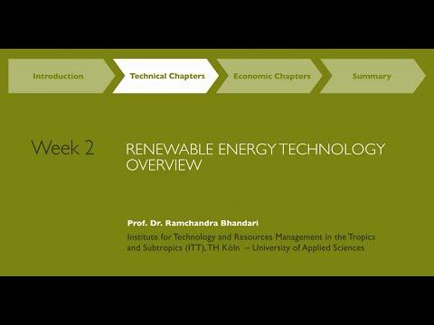 MOOC Week2 Renewable Energy Resources & Technologies