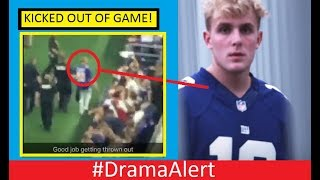 jake paul kicked out of dallas cowboys game dramaalert footage pewdiepie vs the community