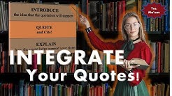 How to Integrate Quotations In Writing Essays-APA or MLA
