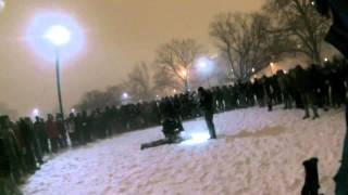 Boston University PD Officer Arrests Student at Snowball Fight