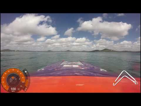 Bowen Offshore Superboat Race 2016 - on board Phantom