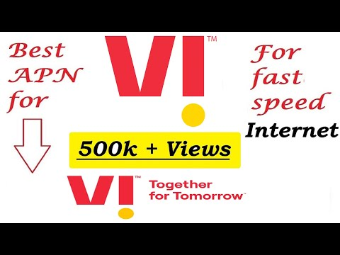 Best APN in vodafone for fastest Internet.