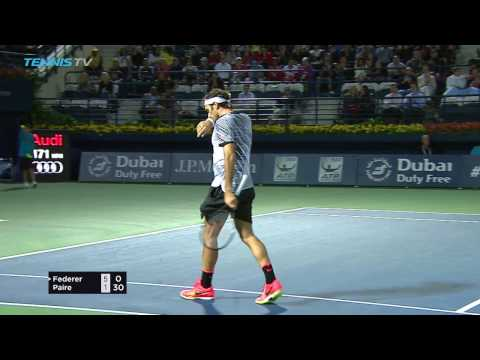 Federer & Monfils: 2017 Dubai Tennis Highlights 27 Feb
