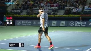 Federer & Monfils Win: 2017 Dubai Tennis Monday Highlights