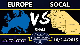 The Big House 5 - Team SoCal Vs. Team Europe - Melee Crews - SSBM