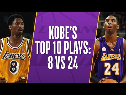 new concept fd9aa 4382d Kobe Bryant's Top 10 Plays Of His Career: 8 vs 24