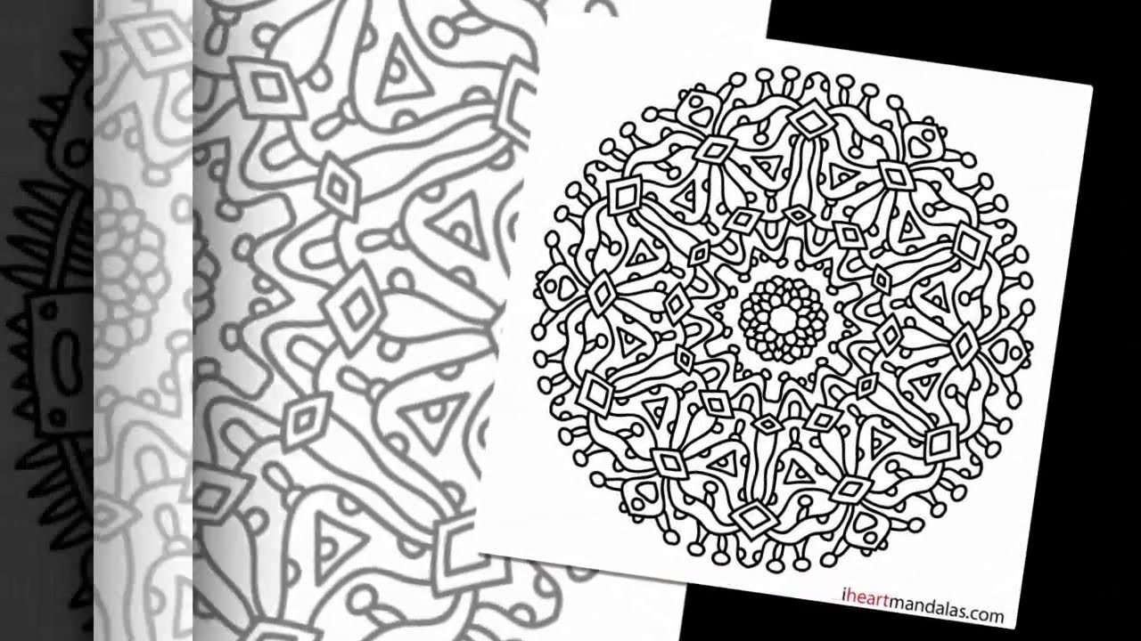 free printable coloring pages mandala designs | Mandalas: Free Coloring pages - Video of Free Mandala ...