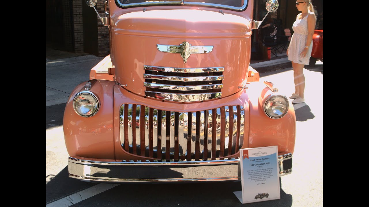 1941 Chevy Cab Over Engine Truck Orng LakeMirror101715