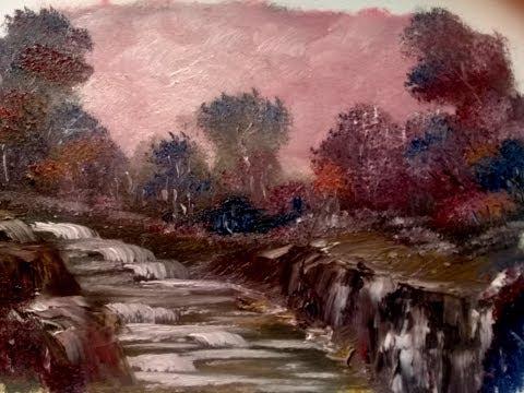 How to paint LANDSCAPE Lesson_MauveDusk_ Kunst Malen in Öl leicht und schnell