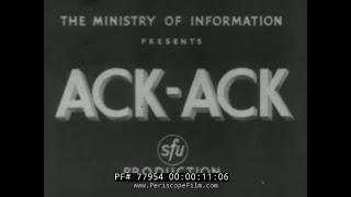 "WORLD WAR II ANTI-AIRCRAFT GUN DOCUMENTARY   "" ACK ACK "" 77954"