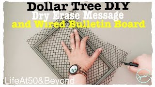 DIY DOLLAR TREE ADORABLE MESSAGE BULLETIN BOARD FOR HOME OFFICE CRAFT ROOM KITCHEN DORM ROOM OR COMM