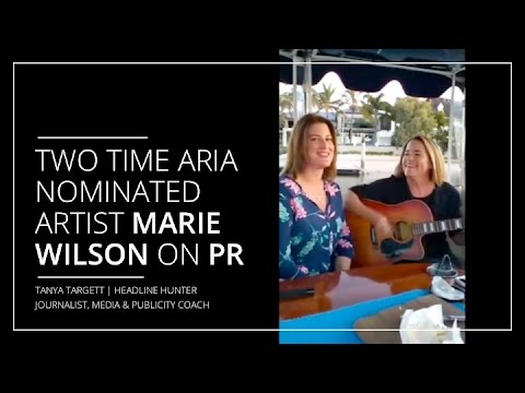 Two-time ARIA nominated artist Marie Wilson on PR (shot for Periscope)