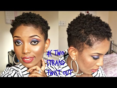 Two Strand Twist Out on Short Hair Natural Hair(4c Two Strands