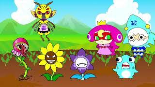 モンスター植物に襲われた?!スズメバチと毒と花とサメニンジャーの冒険!