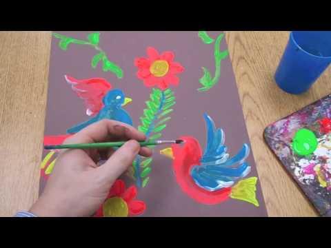 Kids Art Project Demo – Folk Painting