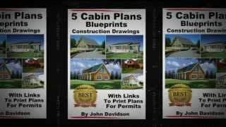 Cabin Plans: 5 Cabin Plans Blueprints Construction Drawings, Kindle Edition