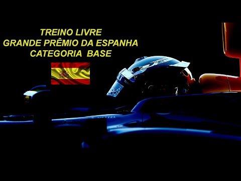 LIGA F1 Brasil Ao vivo - F1 2017 PS4 - Categoria Base Treino Livre - GP Espanha - Narração ZUQUEIRO