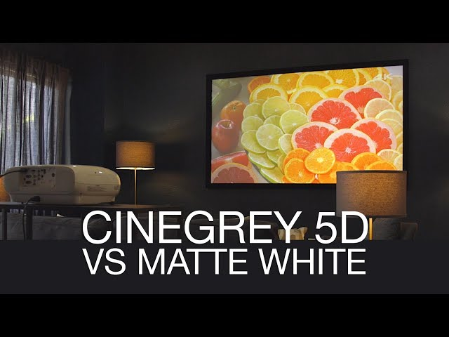 Elite Screens CineGrey 5D vs. Typical Matte White Projection Screen Material