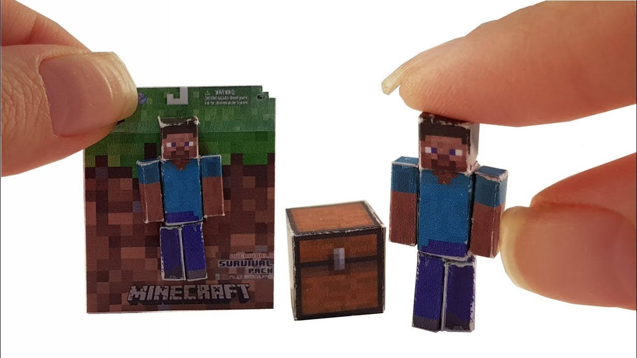 Diy miniature mini steve minecraft tutorial crafts youtube diy miniature mini steve minecraft tutorial crafts solutioingenieria